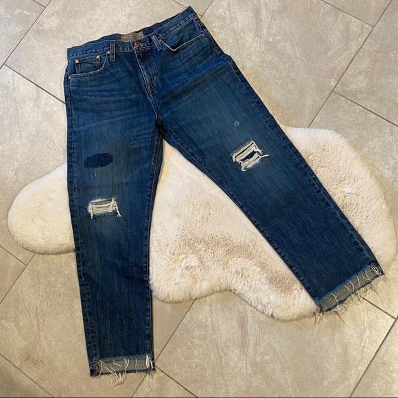 J Crew Point Sur Denim Shoreditch Distressed Jeans